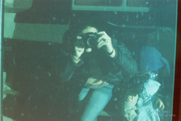 Self Portrait Reflection on the Incline Railway. Polly Nance. Film photograph. 2012.