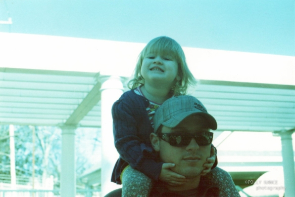 Lennon and Daddy After the Incline Railway. Polly Nance. Film photograph. 2012.