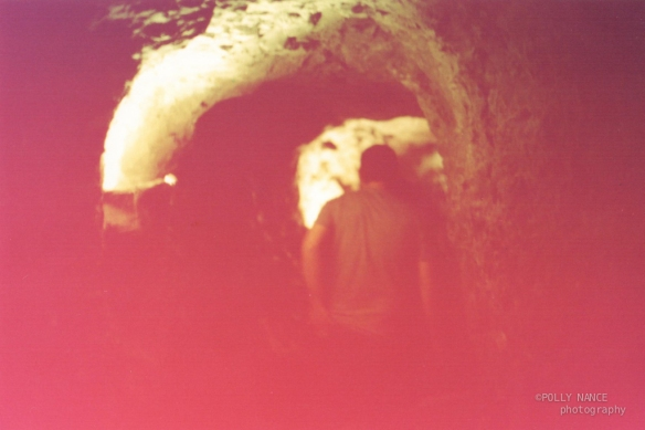Ricky in the Caves of Ruby Falls. Polly Nance. Film photograph. 2012.