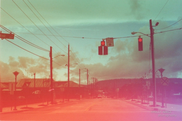 The Sky at a Stoplight in Chattanooga. Polly Nance. Film photograph. 2012.